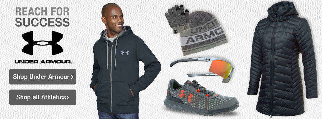 Reach for success with athletics from Under Armour and more.