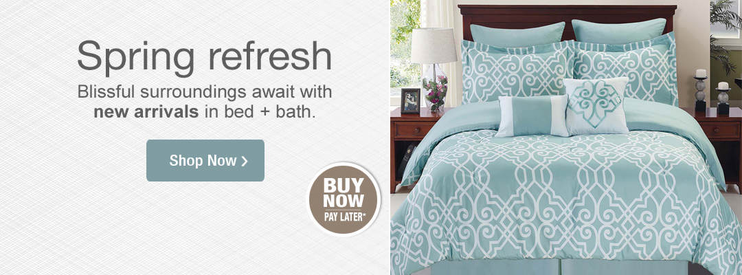 Blissful surroundings await with new arrivals in bed and bath. Shop now.