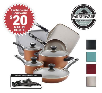 Shop Farberware 17-Piece Cookware Set