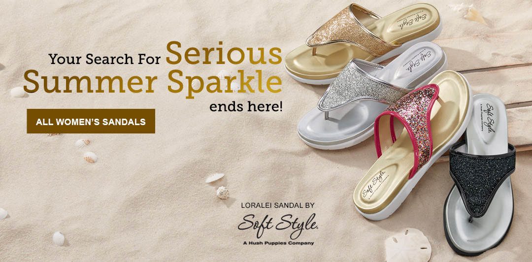 Your search for serious summer sparkle ends here. Shop Soft Styles' Loralei Sandal and our entire selection of women's sandals.