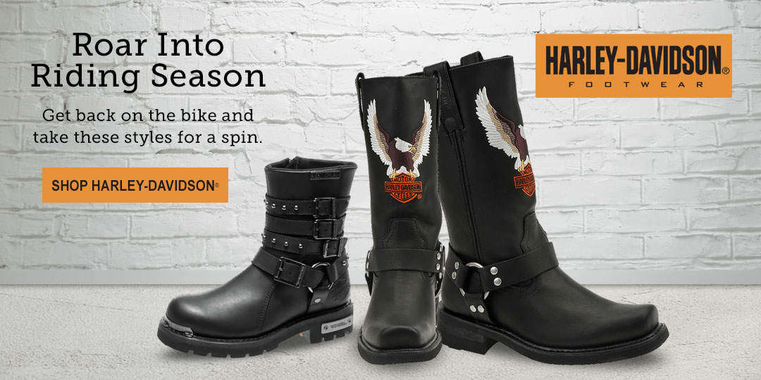 Get back on the bike and roar into riding season with Harley-Davidson styles for men and women.