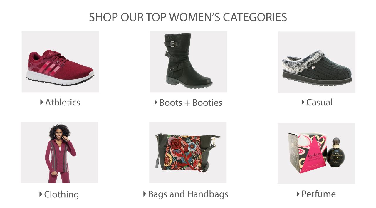 Shop Our Women's Top Categories