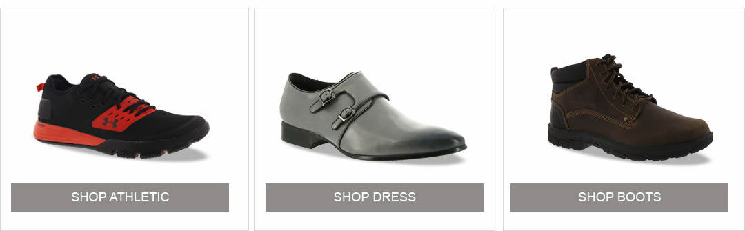 Shop Athletic, Dress and Boots for Men