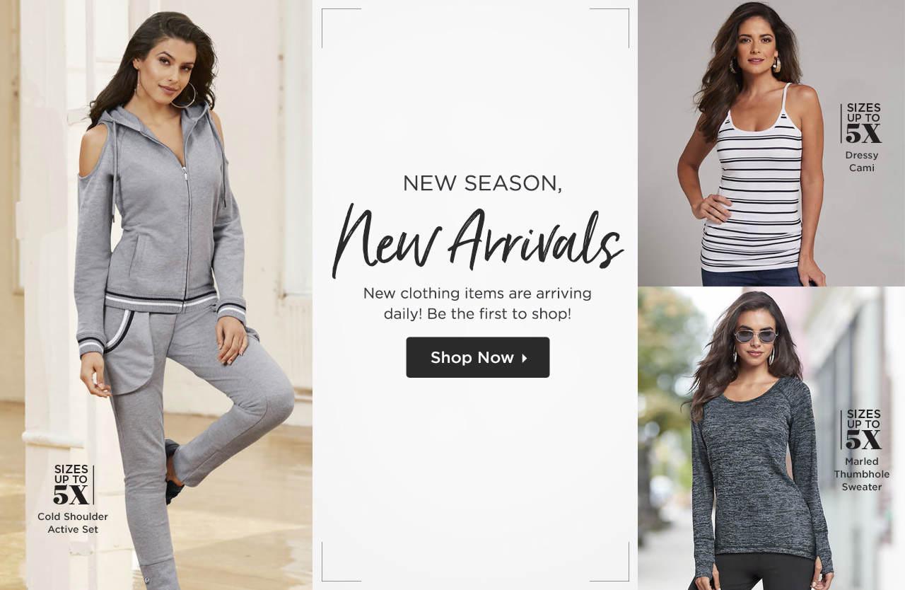New Season, New Arrivals - Be the first to shop the newest clothing styles! Shop Now