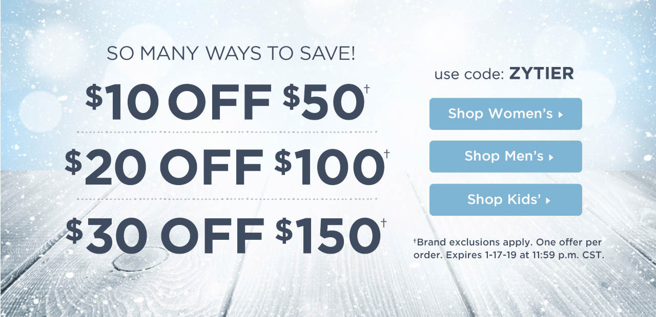 $10 Off $50, $20 Off $100 or $30 Off $150! Shop Now
