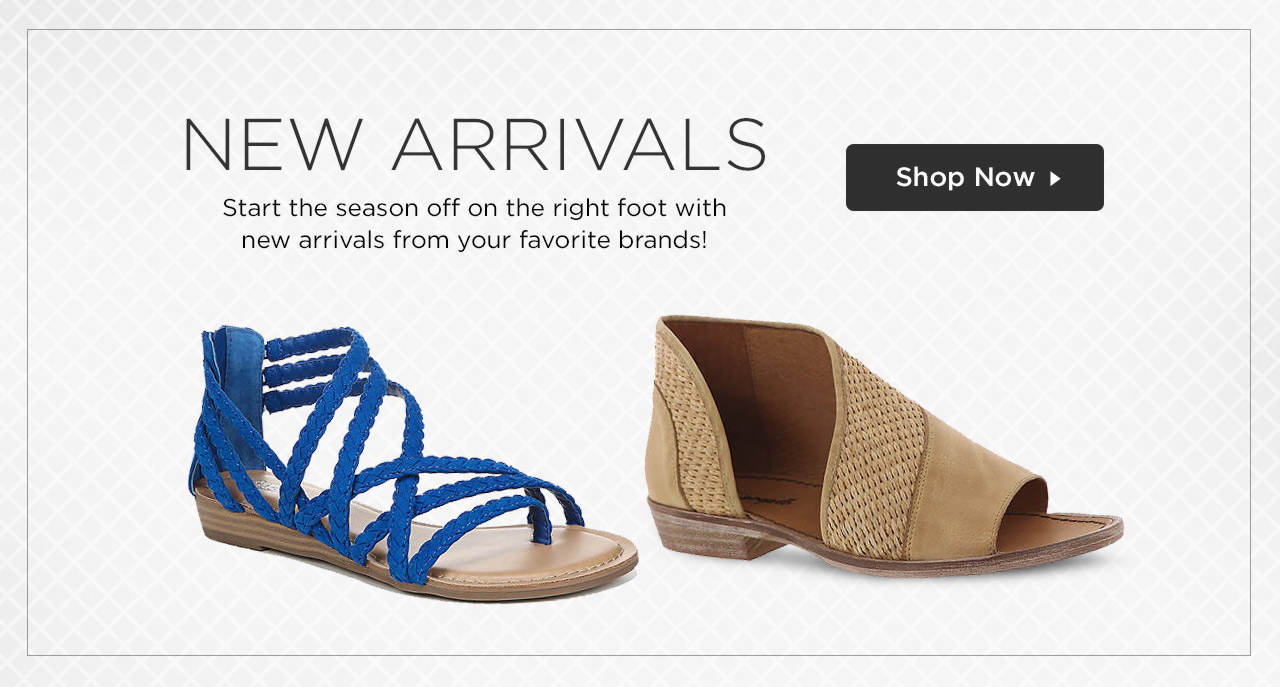 Start the season off on the right foot with new arrivals from your favorite brands! Shop Now