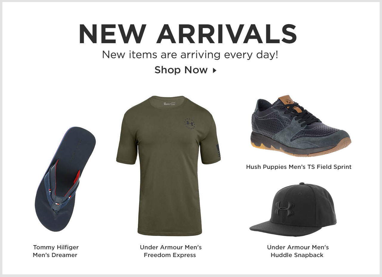 Shop New Men's Arrivals