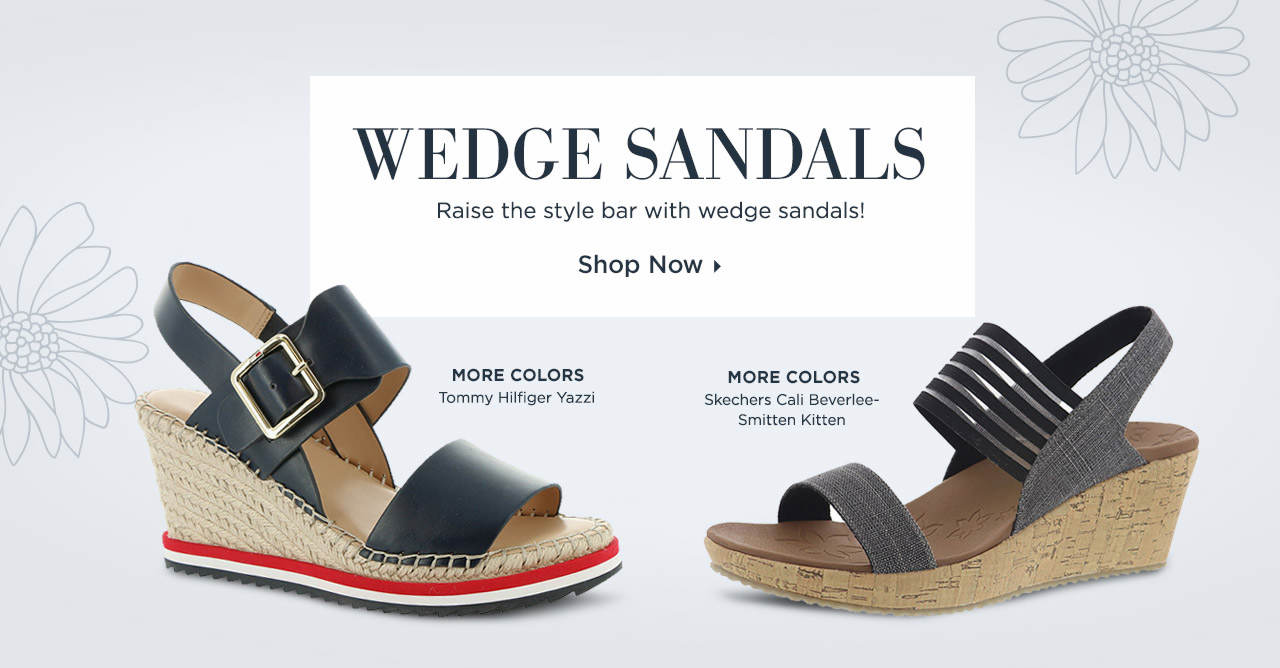 Raise the style bar with wedge sandals! Shop Now