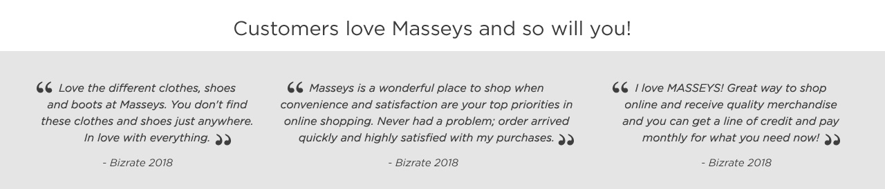 Customers Love Masseys and So Will You!