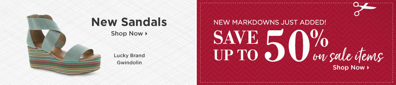 Shop New Sandals and Items on Sale!