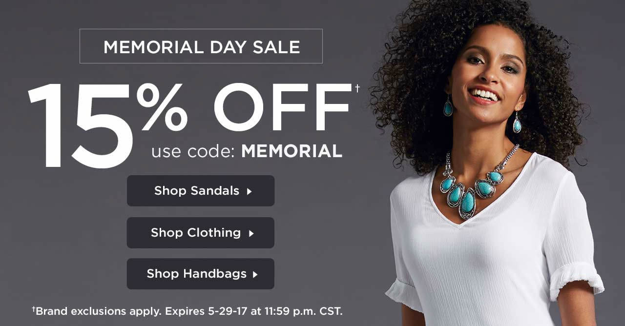 15% Off Your Order With Code: MEMORIAL Until 11:59 p.m. CST on 5-29-17.