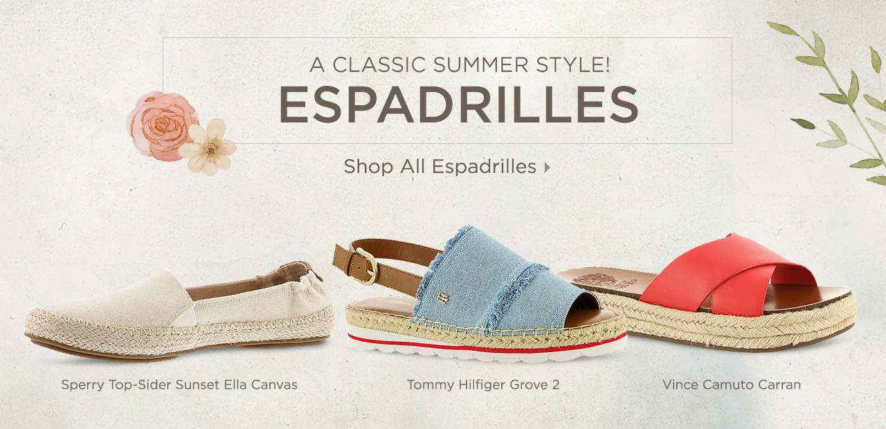 A Classic Summer Style - Espadrilles! Shop Now