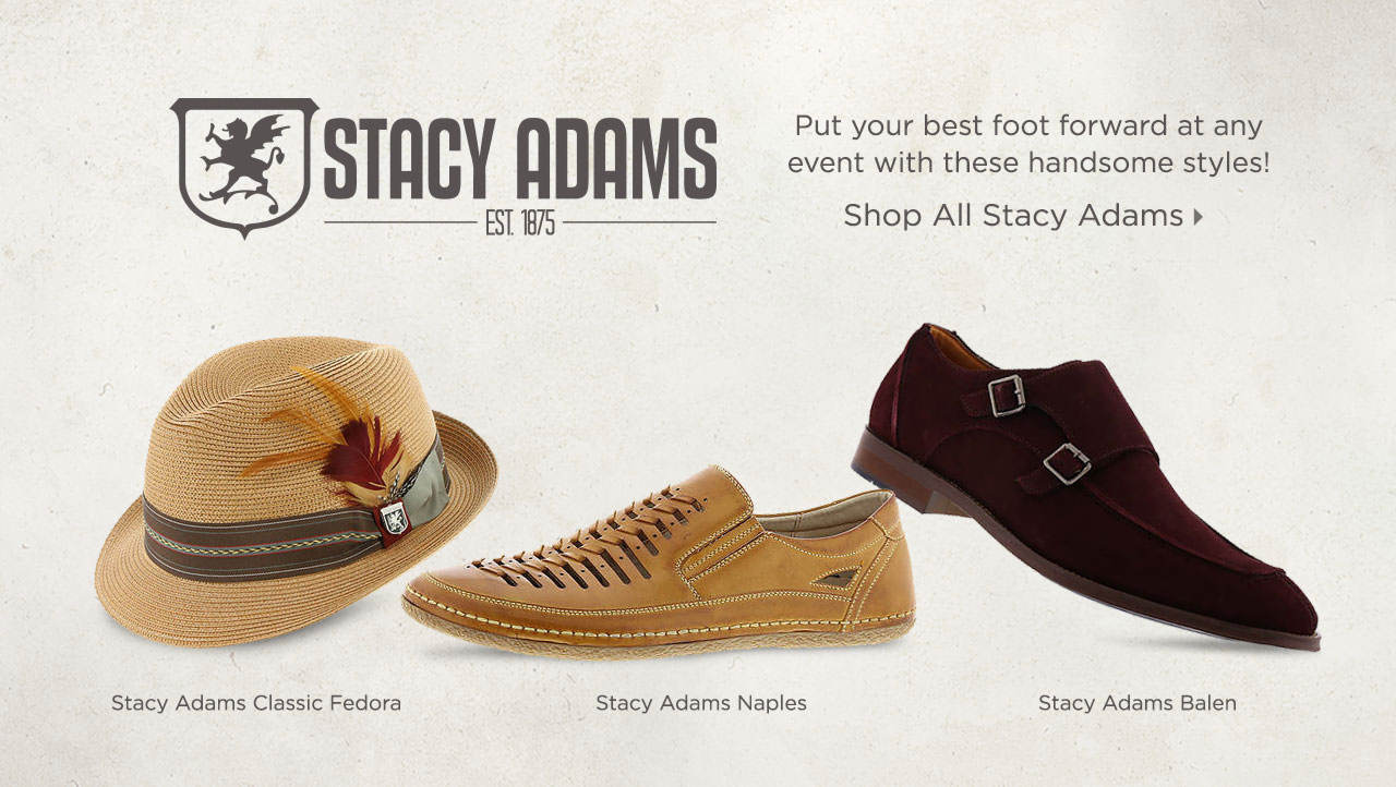 Put your best foot forward at any event with these handsome styles from Stacy Adams! Shop Now