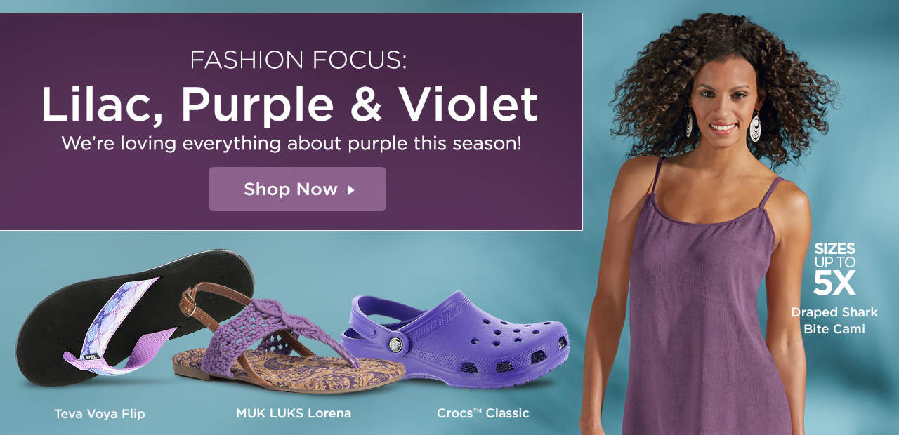 Fashion Focus: Lilac, Purple and Violet. We're loving everything about purple this season! Shop Now