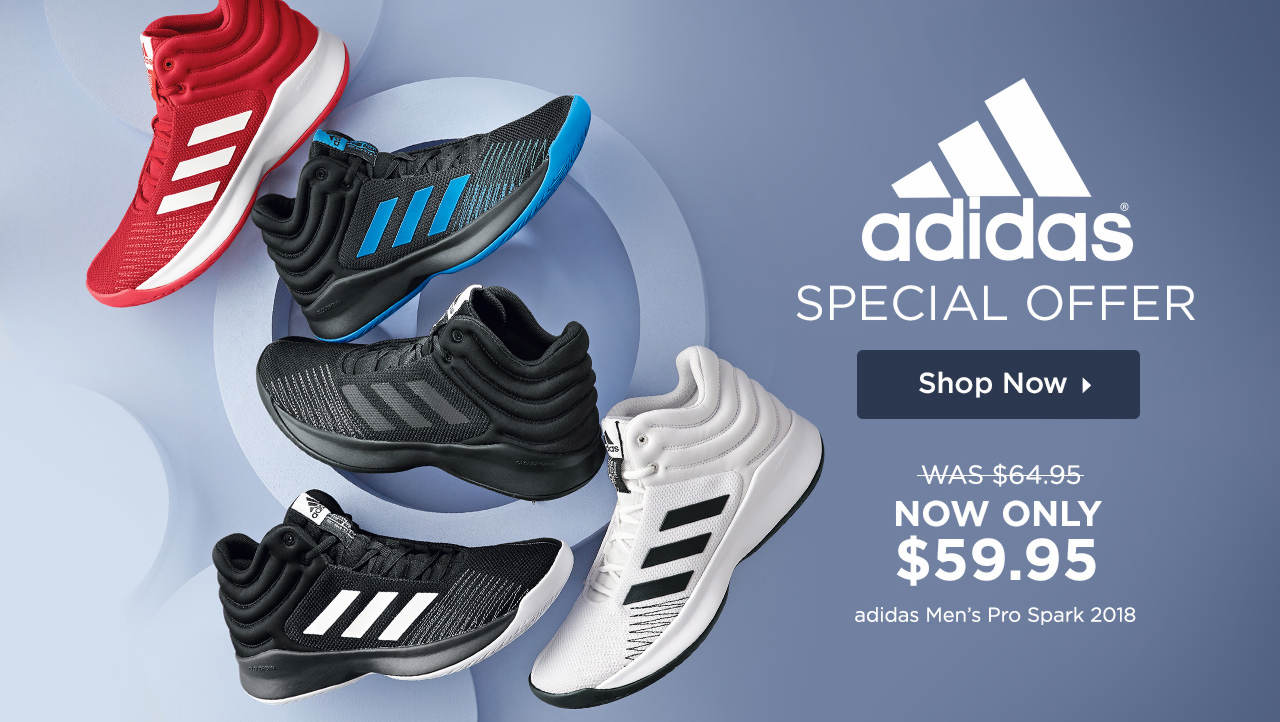 Special Offer! Shop and Save on the adidas Men's Pro Spark 2018 Sneaker!