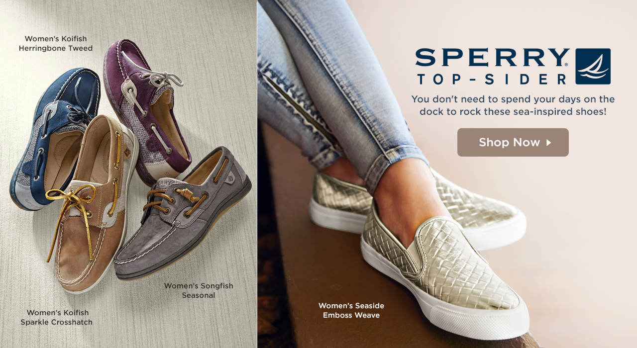 Sperry Top-Sider - You don't need to spend your days on the dock to rock these sea-inspired shoes! Shop Now