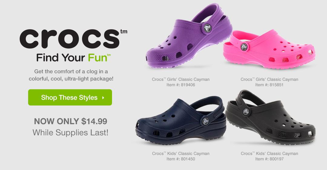 Shop Crocs™ for $14.99