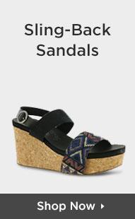 Shop Sling-Back Sandals