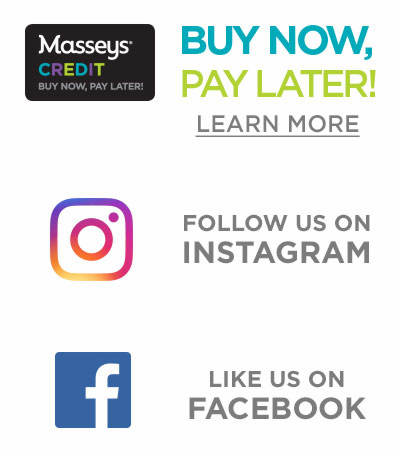 Buy Now, Pay Later with Masseys Credit and Follow Us on Instagram!