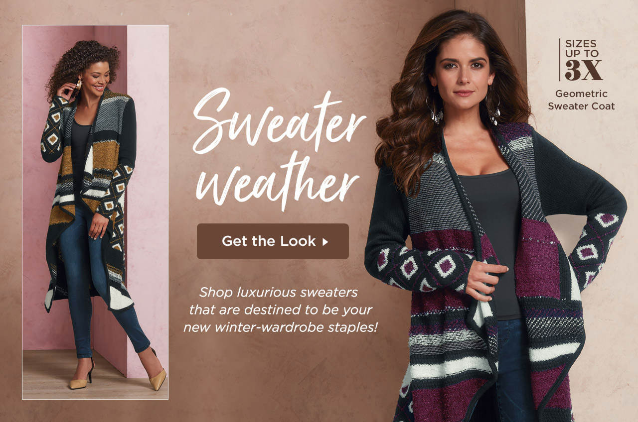 Get the look! Shop luxurious sweaters that are destined to be your new winter-wardrobe staples!