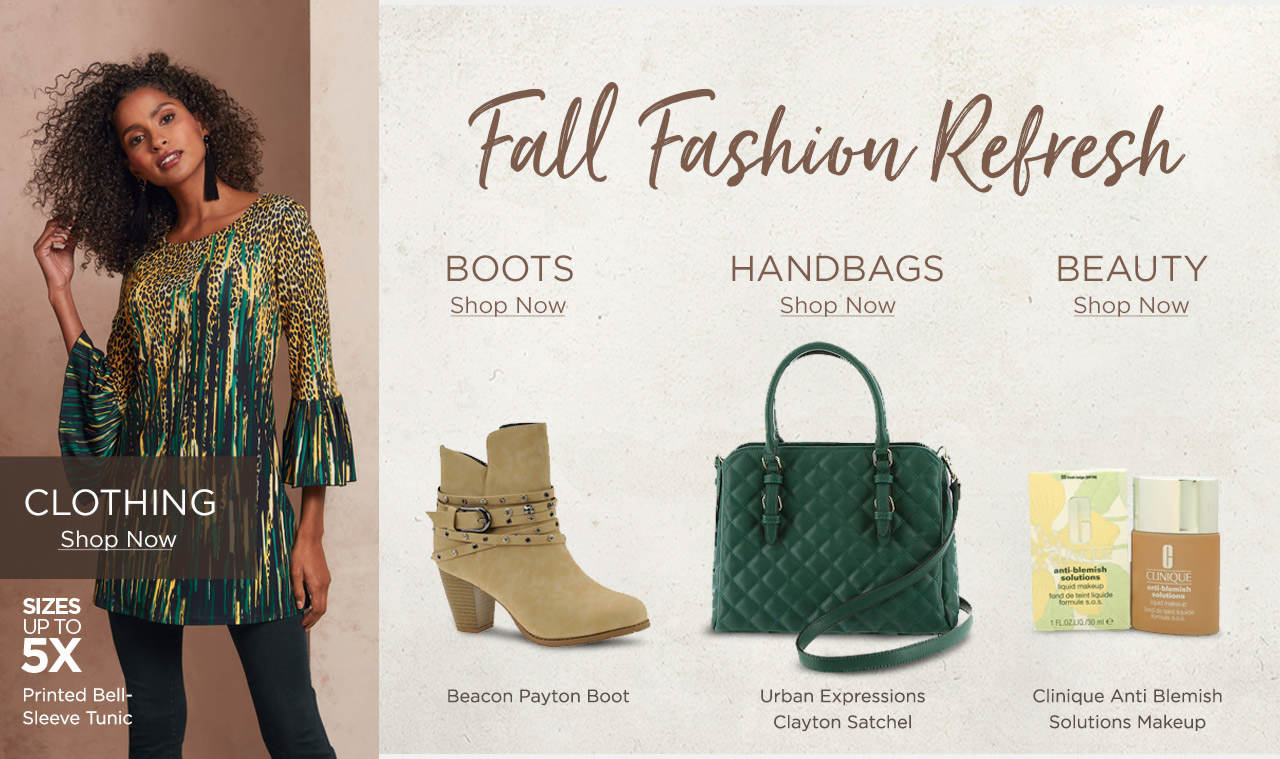 Fall Fashion Refresh - Shop Clothing, Boots, Handbags and Beauty
