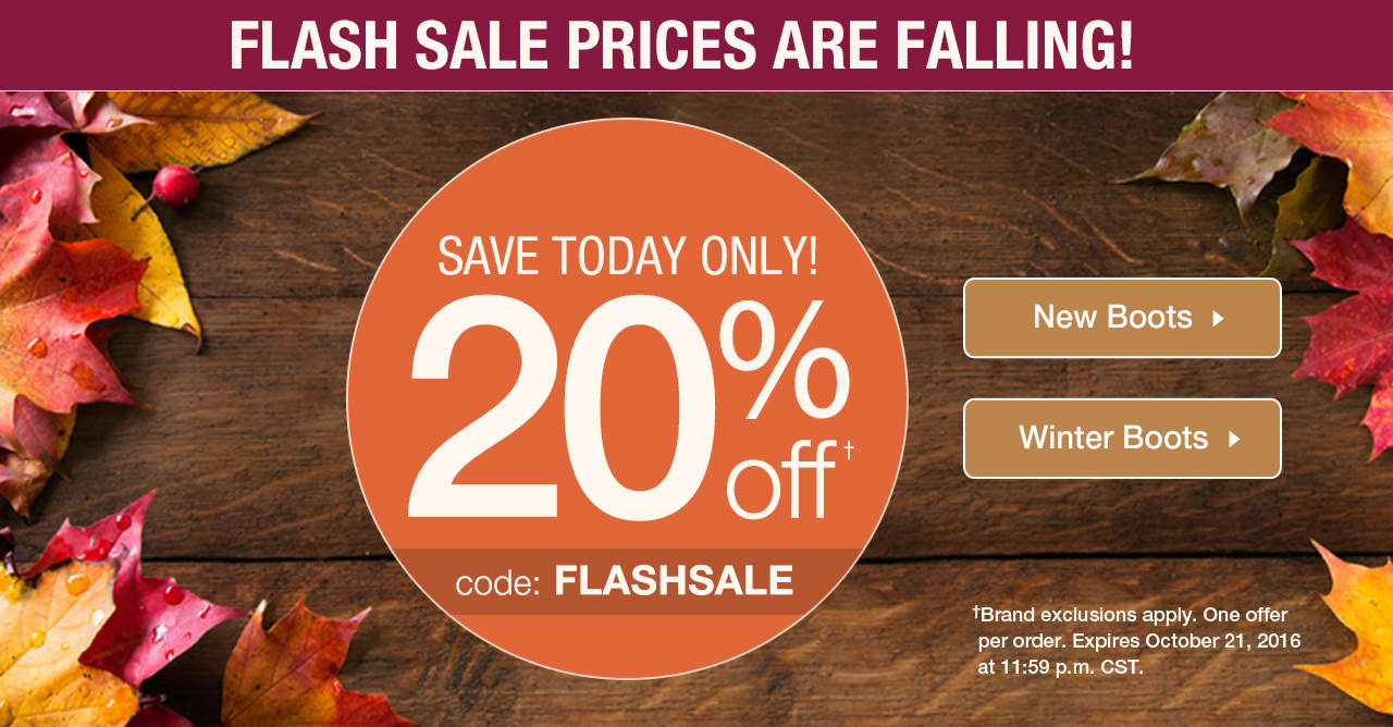 Take 20% Off Your Order With Code: FLASHSALE