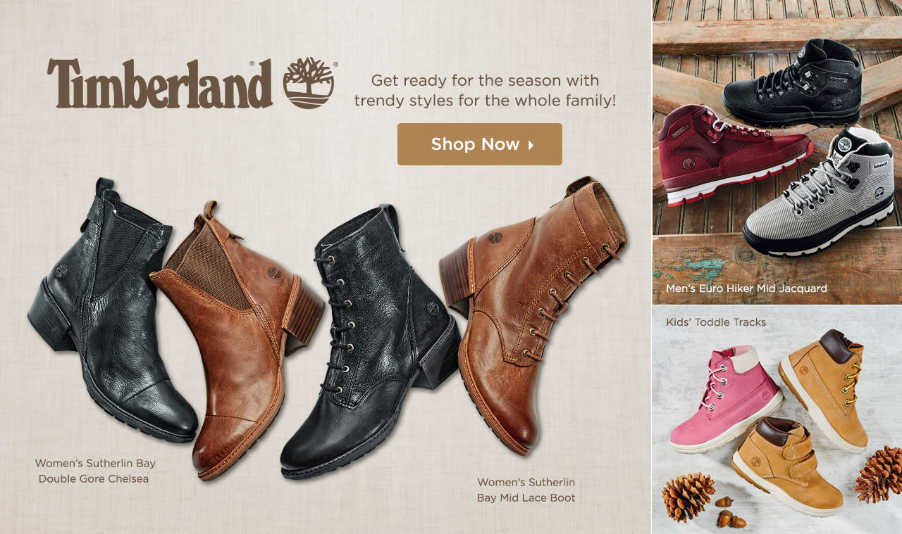 Get ready for the season with trendy Timberland styles for the whole family! Shop Now