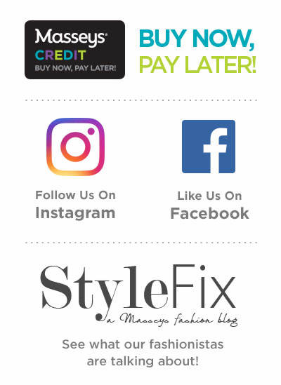 Buy Now, Pay Later With Masseys Credit, Follow Us On Instagram, Like Us On Facebook and Visit Our Blog