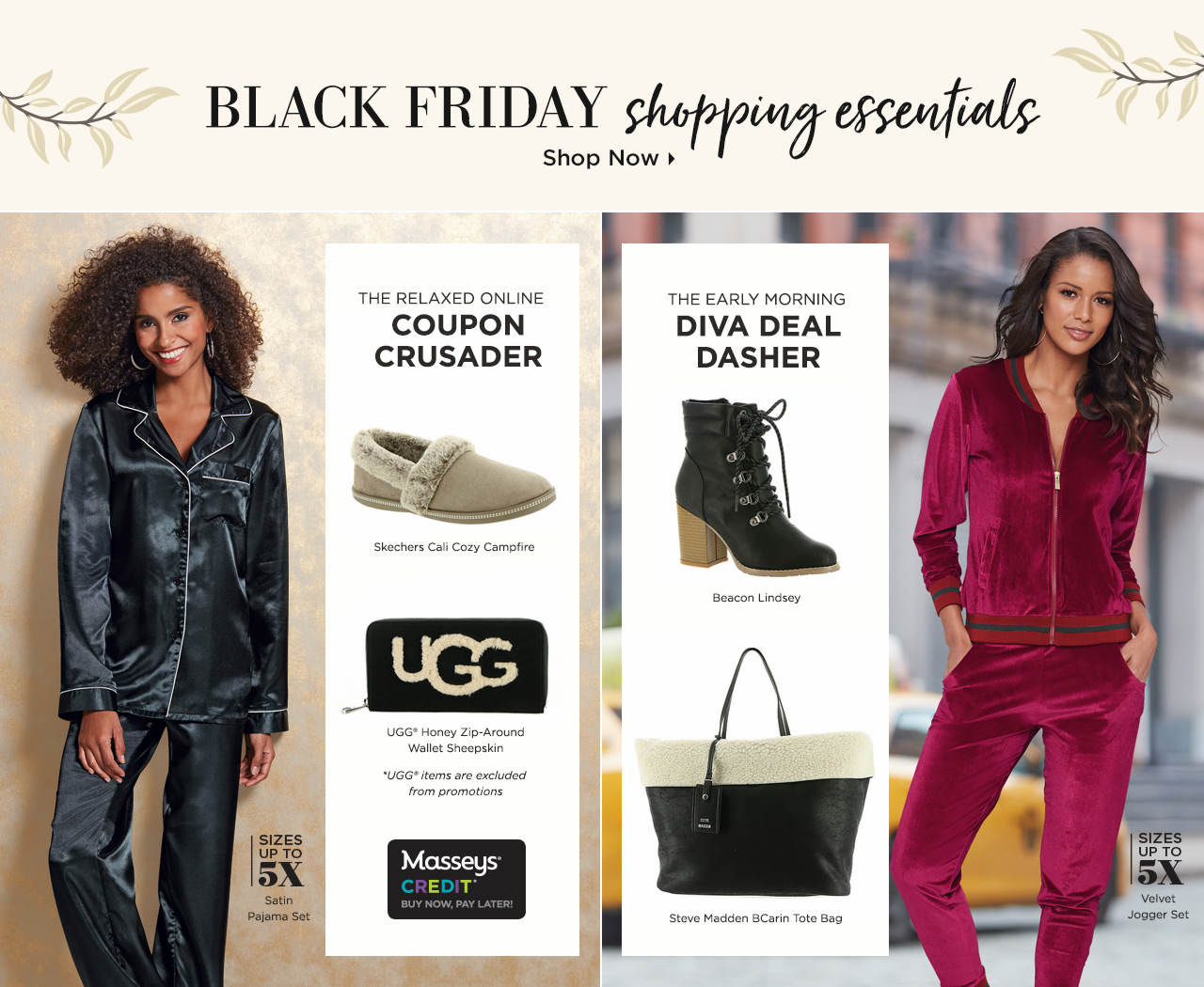 Shop For Your Black Friday  Shopping Outfit - Cozy Slippers and Pajamas For The Relaxed Online Coupon Crusader and Fashion-Forward Styles For The Early Morning Diva Dasher!