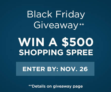 Enter For a Chance to Win a $500 Shopping Spree