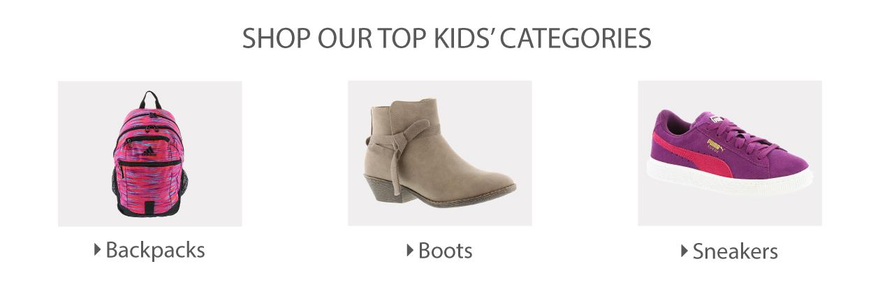 Shop Our Top Kids' Categories