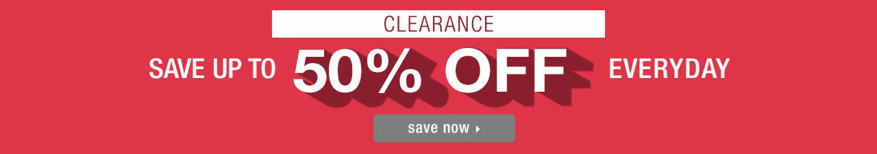 Save Up To 50% Off - Shop Clearance