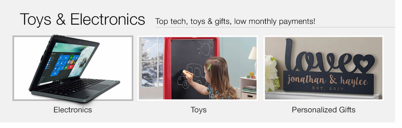 Big entertainment, low monthly payments - Shop Toys, Electronics & Personalized Gifts