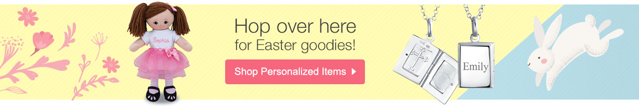 Hop Over Here for Easter Goodies! Shop Personalized Items
