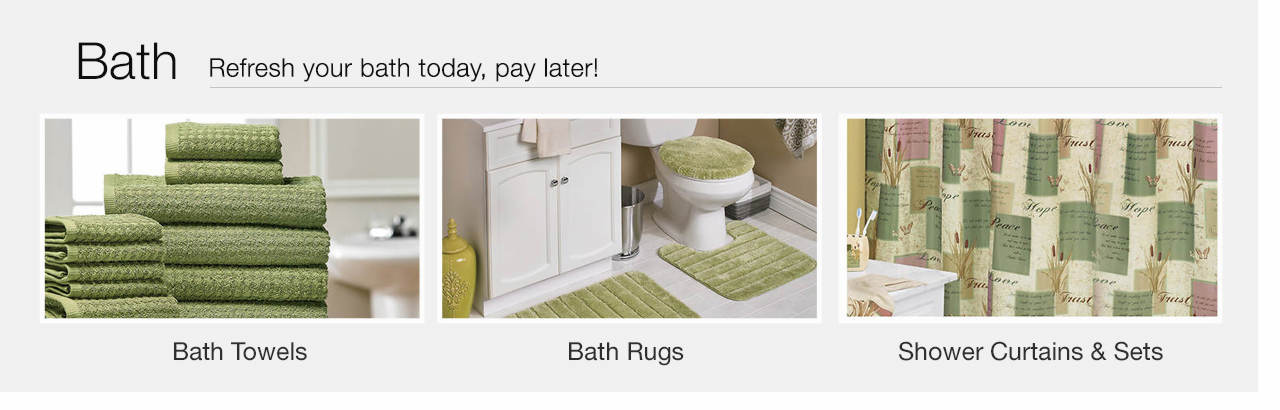 Refresh your bath today, pay later - Shop Bath