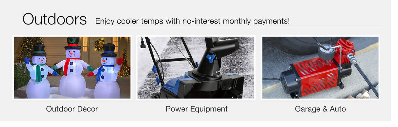 Enjoy cooler temps with no-interest monthly payments - Shop Outdoors