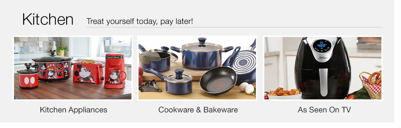 Treat yourself today, pay later - Shop Kitchen