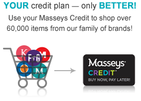 Your credit plan - only Merrier! Use your Masseys Credit to Shop over 60,000 gifts from our family of brands!