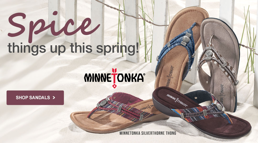Spice things up this Spring - Shop Sandals.