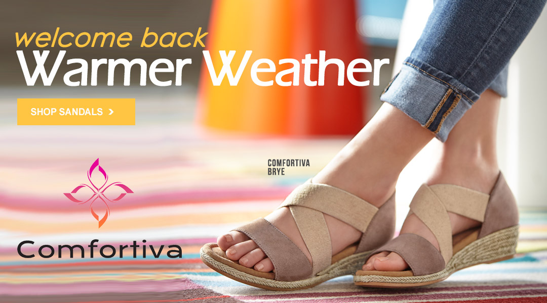 Welcome Back Warmer Weather - Shop Sandals.