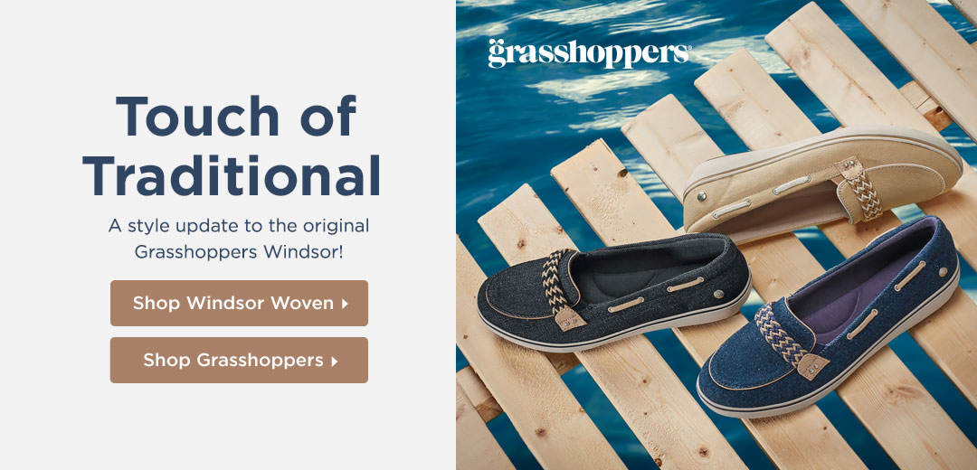 Touch of Traditional: A style update to the original Grasshoppers Windsor! Shop Now