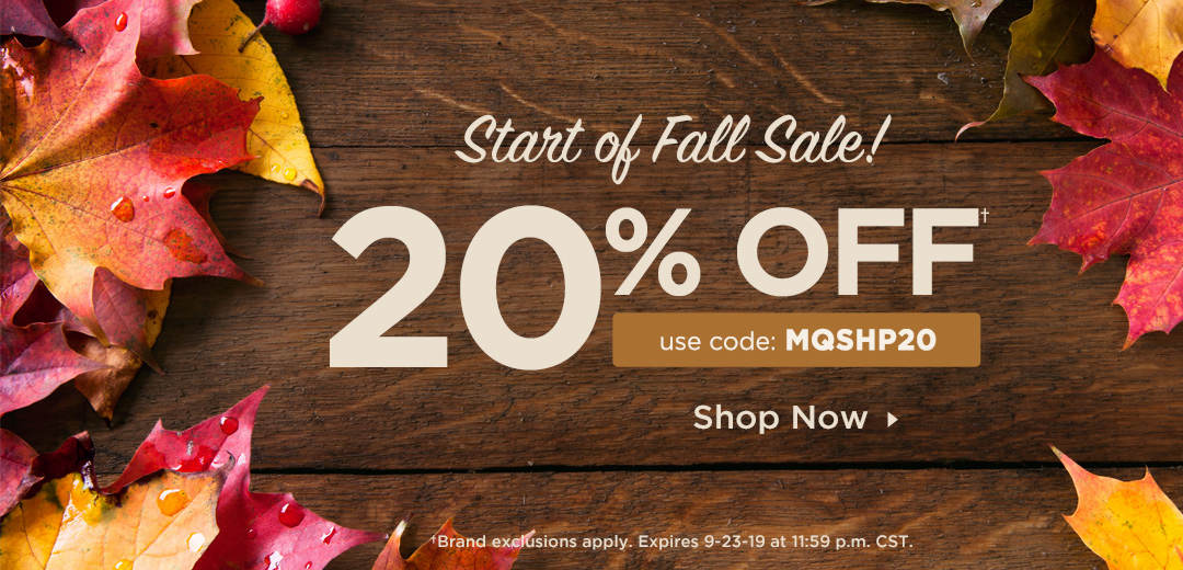 20% Off Your Order! Shop Now