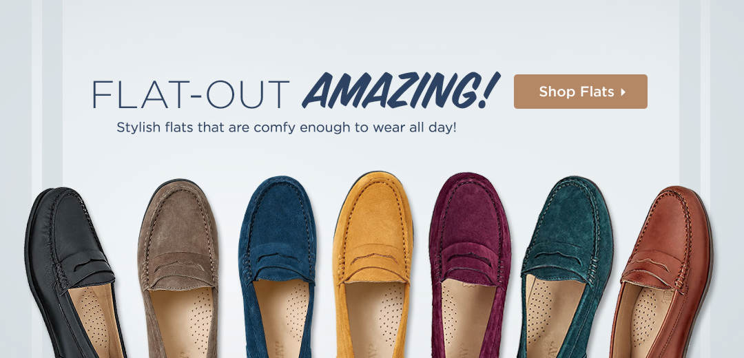 Flat-Out Amazing! Shop stylish flats that are comfy enough to wear all day!