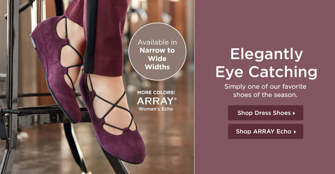 Elegantly Eye Catching - Simply one of our favorite shoes of the season! Shop the ARRAY Echo