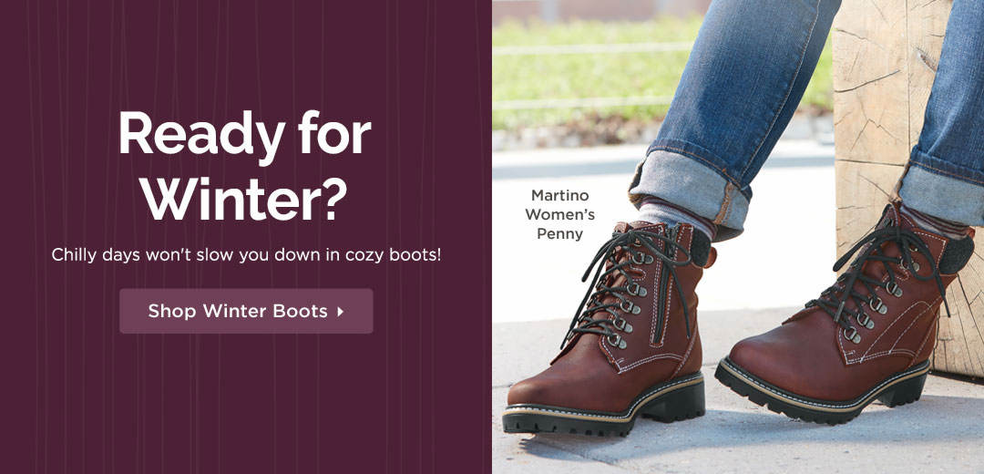 Ready for Winter? Chilly days won't slow you down in cozy boots! Shop now
