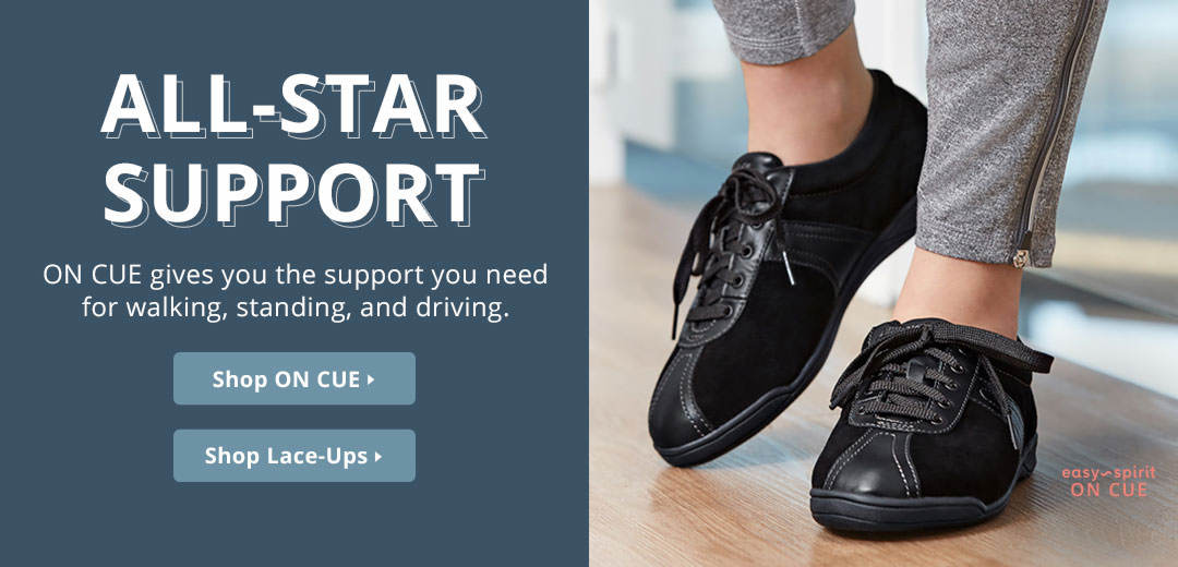 All-Star Support - ON CUE gives you the support you need for walking, standing, and driving. Shop now!