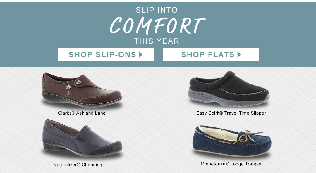 Slip Into Comfort This Year. Shop Slip-Ons and Flats!