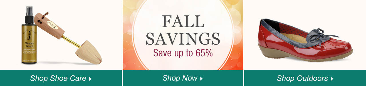 Shop Shoe Care, Outdoor Shoes and explore savings of up to 65% on our sale tab!
