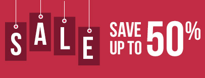 Sale: Save up to 50%