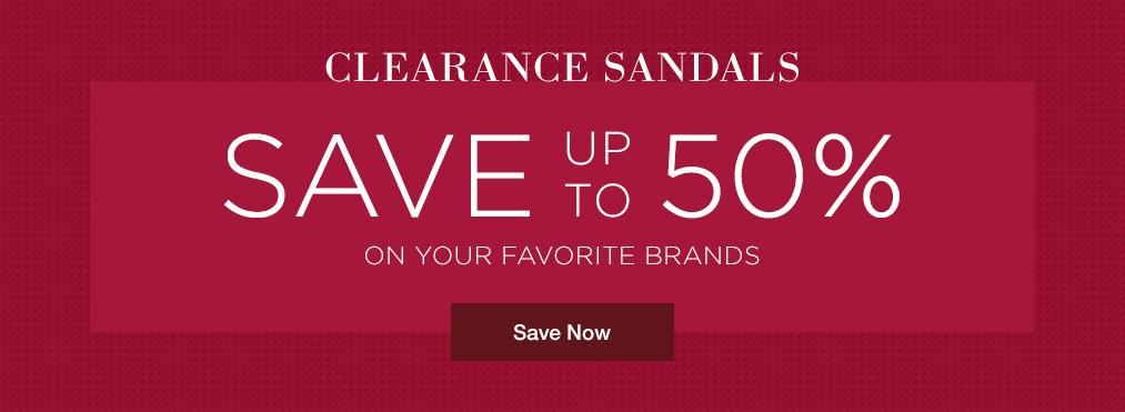 Shop Clearance Sandals